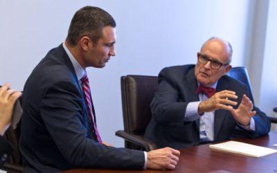 April, 2015 Vitali Klitschko held a meeting with ex-mayor of New York Rudolph Giuliani