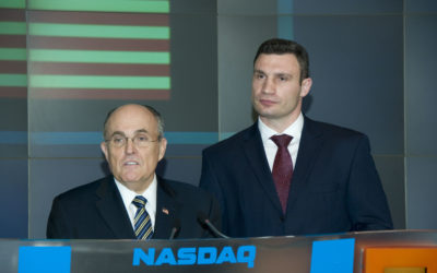 May, 2008 – Vitali Klitschko attends Nasdaq press conference